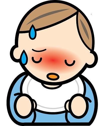 溶連菌に感染した赤ちゃん
